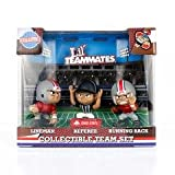 Ohio State Buckeyes NCAA Lil' Teammates NCAA Team Sets Collectible Pretend Play Football Player Figurines ~CecietCela at Amazon.com