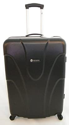 "Hard Shell 28"" Wheeled Suitcase Trolley in Black"