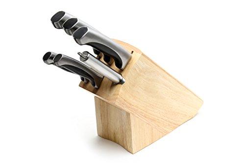 Set Di 6 Coltelli Da Cucina In Acciaio Inox 5Cr15Mov Ad Alto Tenore Di Carbonio Di Prima Qualità Ross Henery Professional Premium In Ceppo Di Rovere