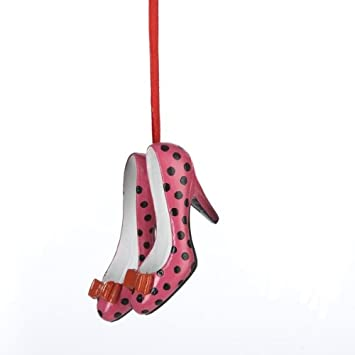 Pink Polka Dot Shoe Ornament