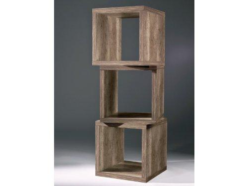 w rfel 2 st ck regal beistelltisch 40x40 eiche s gerau. Black Bedroom Furniture Sets. Home Design Ideas