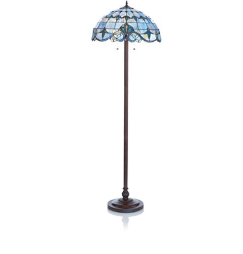 style stained glass floor lamp home garden lighting lamps lamps. Black Bedroom Furniture Sets. Home Design Ideas