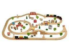 Branching Out John Crane 100 Piece Wooden Train Set