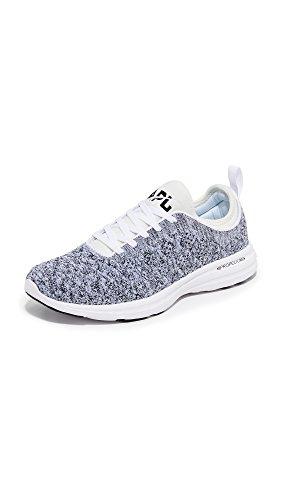 APL: Athletic Propulsion Labs Women's Techloom Phantom Running Shoe, White/Cosmic Grey, 7.5 M US