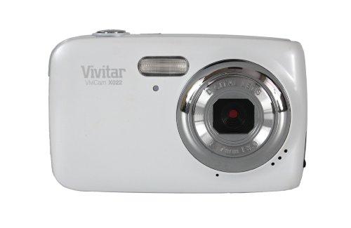 Vivitar X022 Fotocamera Digitale, 10 megapixel, zoom 4x, Bianco