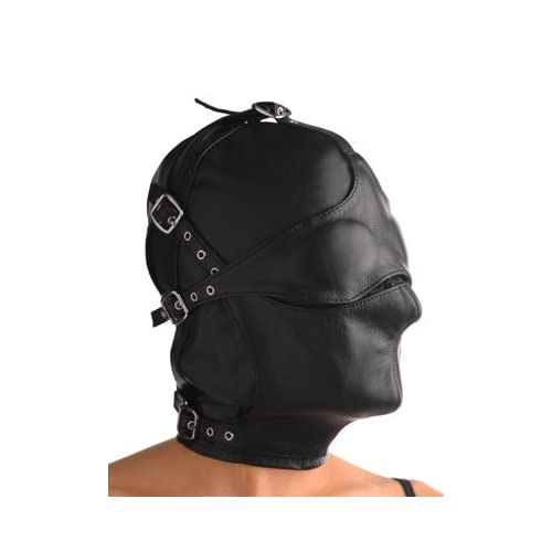 Amazon.com: Best,asylum Leather Hood with Removable Blindfold and
