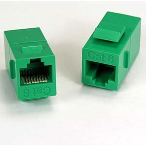 InstallerParts Cat.6 Inline Coupler w/Keystone Latch Green (Low Profile Cat 6 compare prices)