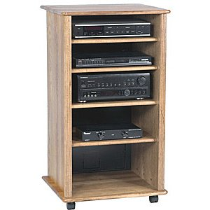 Awesome Wood Technology Solid Hardwood Audio Rack Cabinet In Oak Finish | Best  Sellers