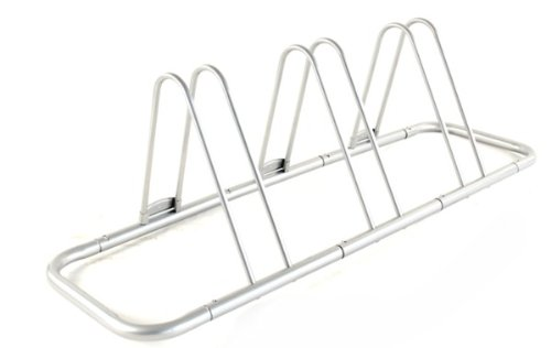 3 Bike Bicycle Floor Parking Rack Storage Stand