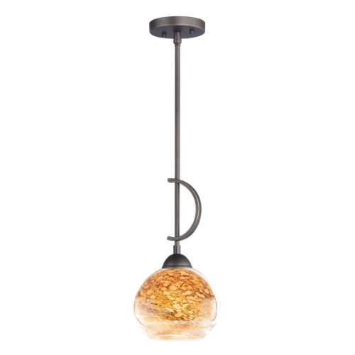 Woodbridge Lighting 13023MEB-BAL202 North Bay 1-Light Mini-Pendant, 7-Inch by 45-1/4-Inch, Metallic Bronze