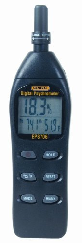 General Tools EP8706 Digital Psychrometer