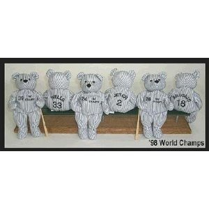 David Wells #33 - New York Yankees - 1998 Baseball World Series Championship Limited Edition Bear - Plush Toy