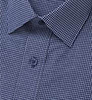 Cotton Rich Short Sleeve Quick Iron Grid Checked Shirt