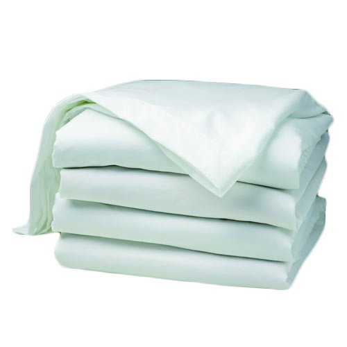 aBaby Daycare Poly Cotton Crib Sheets, White, Flat - 1
