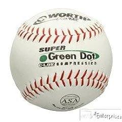 Six dozen 72 Worth SX11RLA3 ASA leather softballs NEW 11 by Worth