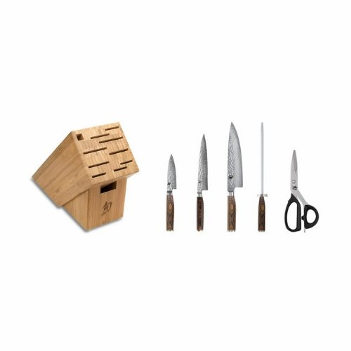 Shun Premier 6-Piece Knife Block Set (Chinese Chef Knife Shun compare prices)
