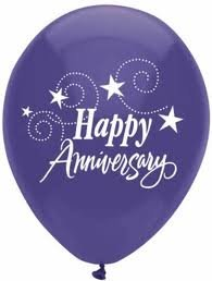 Amazon.com: Happy Anniversary Balloons - 8 count - Assorted Colors