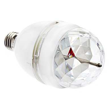 Sound Actived E27 3W Colorful Light Led Bulb For Disco Party Bars(85-265V,White)