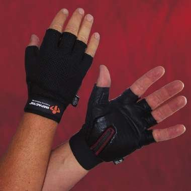 Carpel Tunnel Glove,Half Finger, Black Leather Palm, Durable, Large front-55000