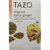 TAZO Organic Spicy Ginger Caffeine-Free Tea 20 tea bags per box(2 Pack)