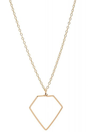 Halskette mit Diamantenanhänger