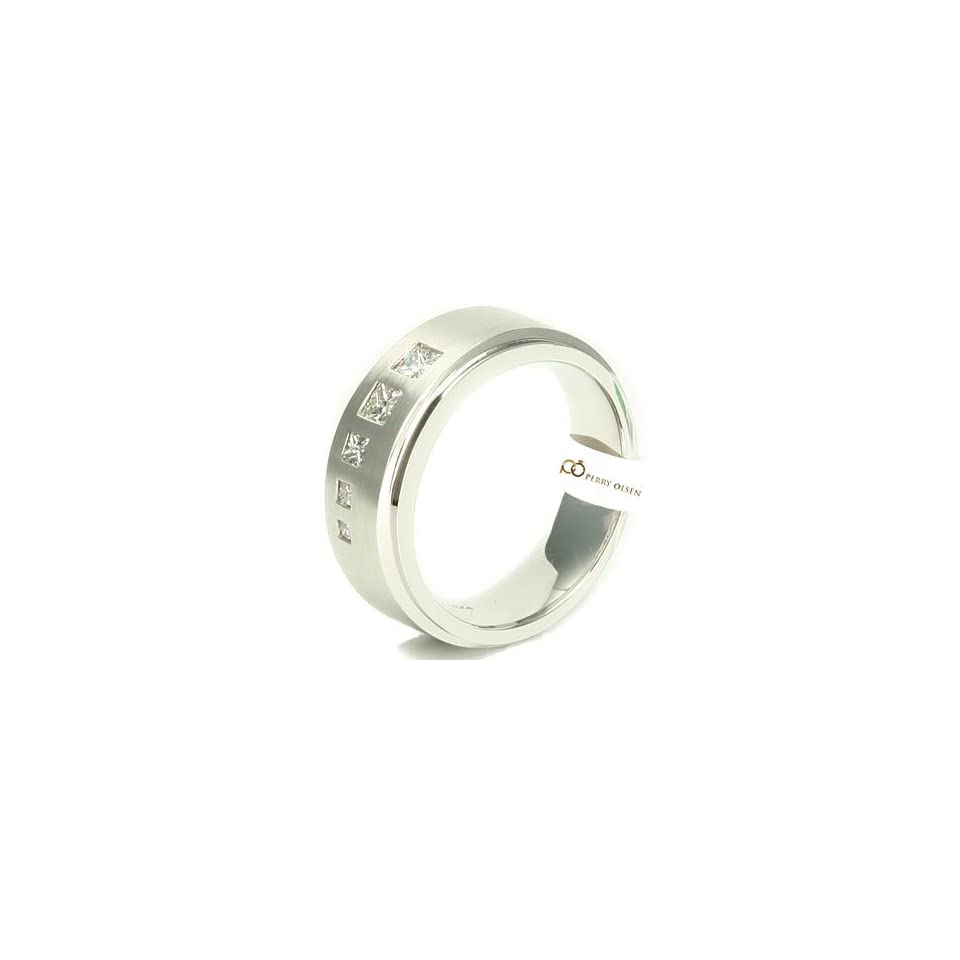Gold Contemporary Journey Setting High End Mens Diamond Wedding Ring