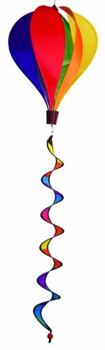 In the Breeze Rainbow 6 Panel Hot Air Balloon Wind Spinner