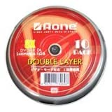 Aone 10 Dual Layer Double Layer Silk Screen DVD+R DL 8.5GB 240 Mins Blanks in Cakeboxby Aone