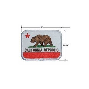 California State Flag Embroidered Patch Iron-On Comes in Pack of 3 (Ca Republic Patch compare prices)