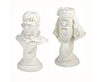 Tomy Harry Potter & The Deathly Hallows Plaster Casting Bust Kit Set - Harry & Dumbledore