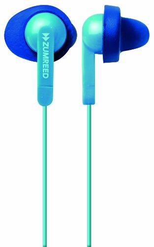Zumreed Zum-80311 Fit N Quiet Memory Foam Cushioned Earphones (Light Blue)