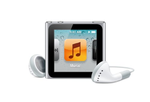 Apple iPod nano 16GB - Silver - 6th Generation (Launched Sept 2010)
