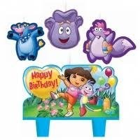 DORA THE EXPLORER Party CAKE TOPPER CANDLE Birthday Kit ...
