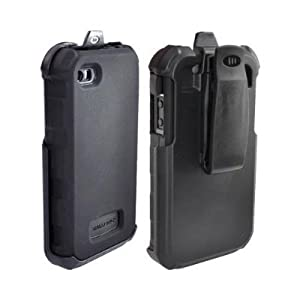 Ballistic Survivor Extreme-Duty Military Duty Rugged Case and Belt Clip for iPhone 4 - iPhone 4S - Black/Grey