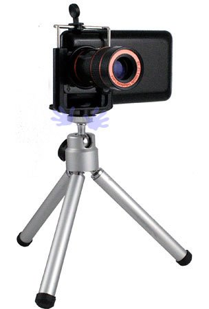 HHI Universal 8X Camera Zoom Lens with Mini Tripod Kit for Mobile Phones and Smartphone (Free HandHelditems Sketch Universal Stylus Pen)