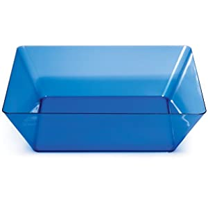 Creative Converting Square Plastic Serving Bowl, 11-Inch, Translucent Blue by Creative Converting