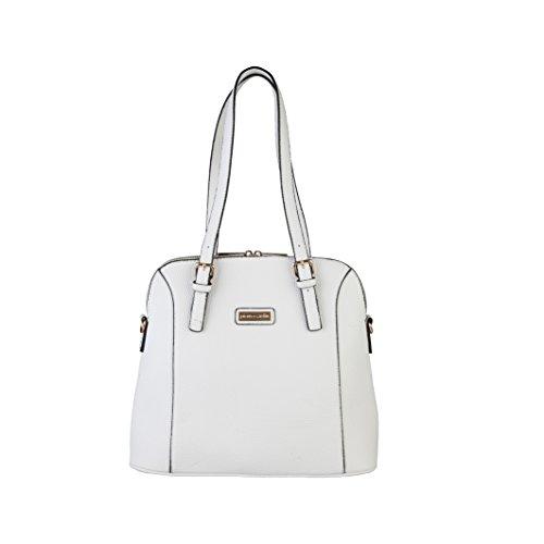 Pierre Cardin - Borsa A Spalla in Eco-Pelle Donna, colore Bianco MS89_61500_BIANCO