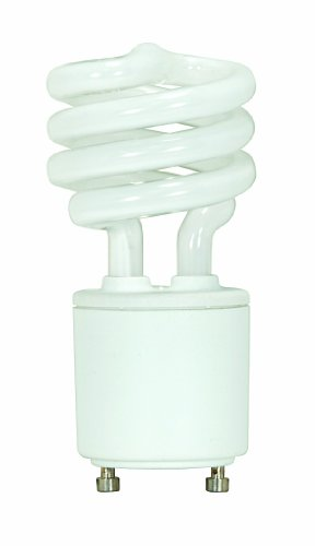 Satco S8203 13 Watt (60 Watt) 800 Lumens Mini Spiral CFL Soft White 2700K GU24 Base Light Bulb