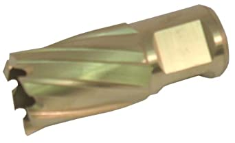 "Jancy Slugger Cobalt Steel Annular Cutter, Rail Cutter Design, TiN Coated, 3/4"" Annular Shank, 1"" Depth"