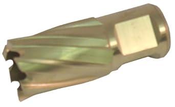 "Jancy Slugger Cobalt Steel Annular Cutter, Rail Cutter Design, TiN Coated, 3/4"" Annular Shank, 1"" Depth"