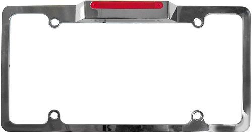 Custom Accessories 92595 Lighted License Plate Frame With Brake Light
