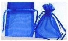60 Pcs Sheer Organza Drawstring Pouches Gift Bags 6x9 Inches - Royal Blue