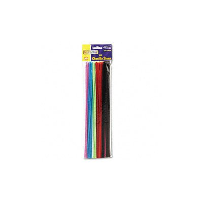 Chenille Regular Stems - 12 x 4mm, Assorted Colors, 100 per Pack(sold in packs of 3)