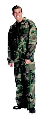Military Airforce Style Flightsuit Coveralls