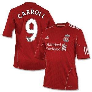 10-12 Liverpool Home Shirt Carroll 9 Official Player Sencilia Printing-xl