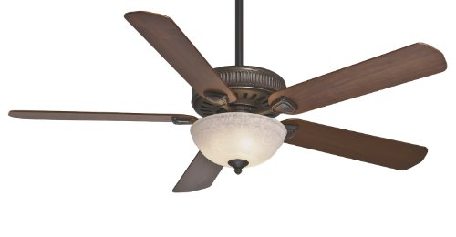 Casablanca 55006 Ainsworth Gallery 60-Inch 5-Blade Single Light Ceiling Fan, Onyx Bengal with Distressed Walnut/Dark Walnut Blades and Toffee Glass Bowl Light