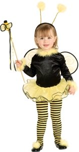 Lil Stinger Bumble Bee Child Costume Size 2-4 Toddler