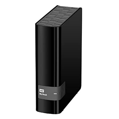 WD My Book 4TB USB 3.0 Hard Drive with Security Local and Cloud Backup (WDBFJK0040HBK-NESN)