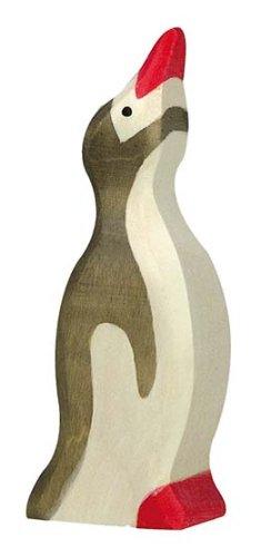Holztiger Penguin Raised Head Wooden Figure (Small)