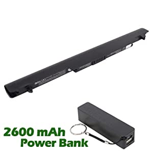 Battpit™ Laptop / Notebook Battery Replacement for Asus E46C (2200mAh / 49Wh) with 2600mAh Power Bank / External Battery for Smartphone.